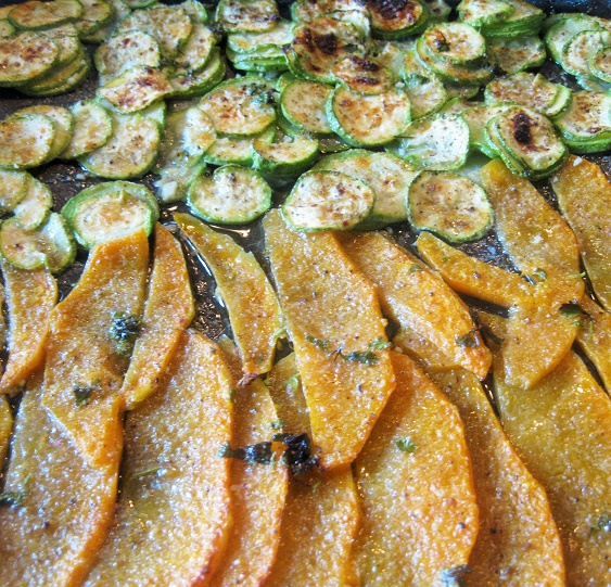 zucca e zucchine al forno