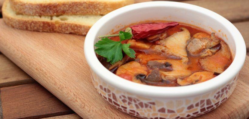 zuppa con funghi cardoncelli