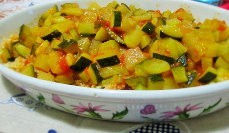 cous cous con zucchine e patate