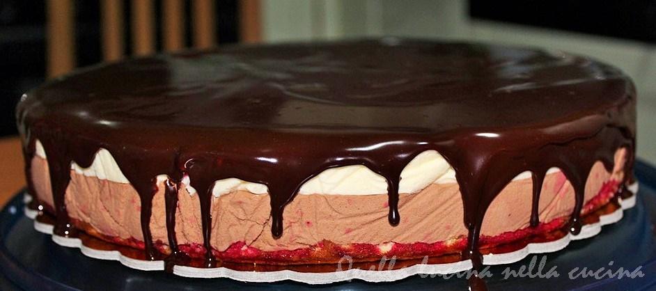 Bavarese cioccolato e bagna di alchermes