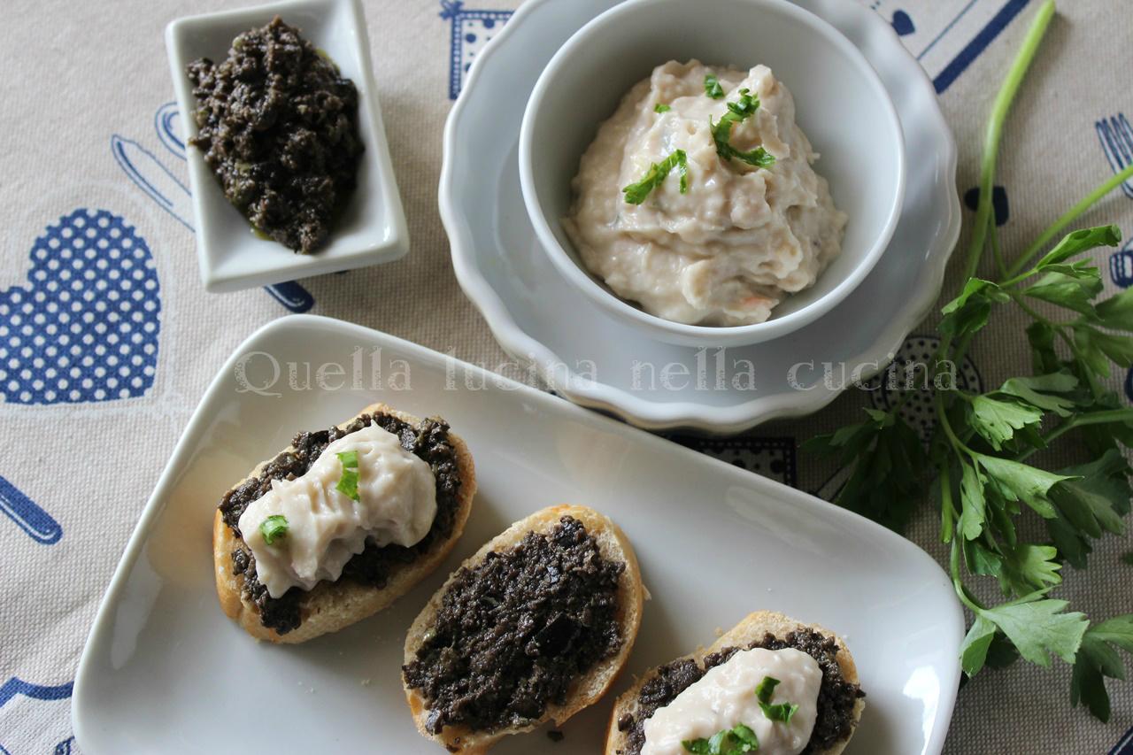 Crostini olive nere e cannellini
