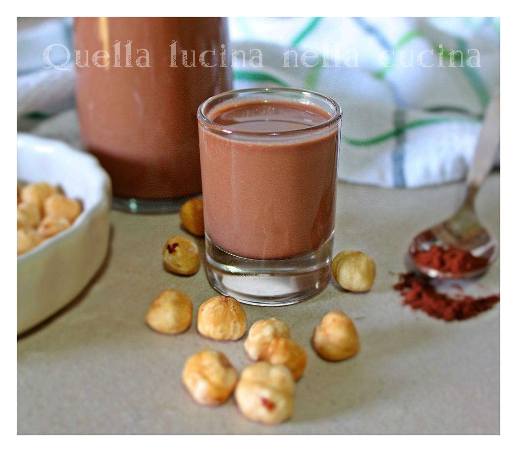 Latte di nocciole e cacao