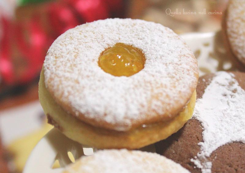 Occhi di bue alla marmellata di mandarini e nutella