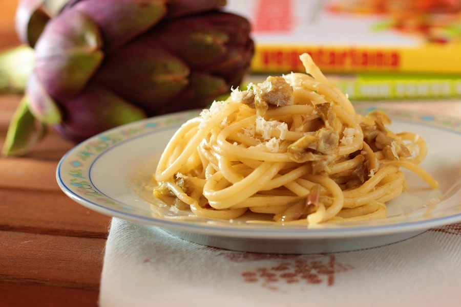 Ricetta spaghetti cacio e pepe ai carciofi
