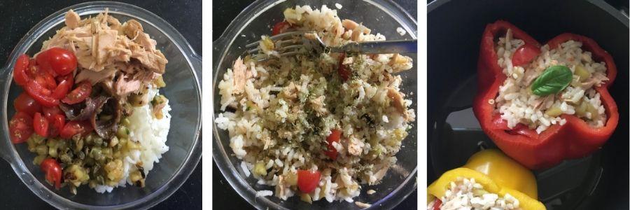 Peperoni ripieni senza carne
