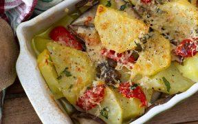 patate e funghi cardoncelli