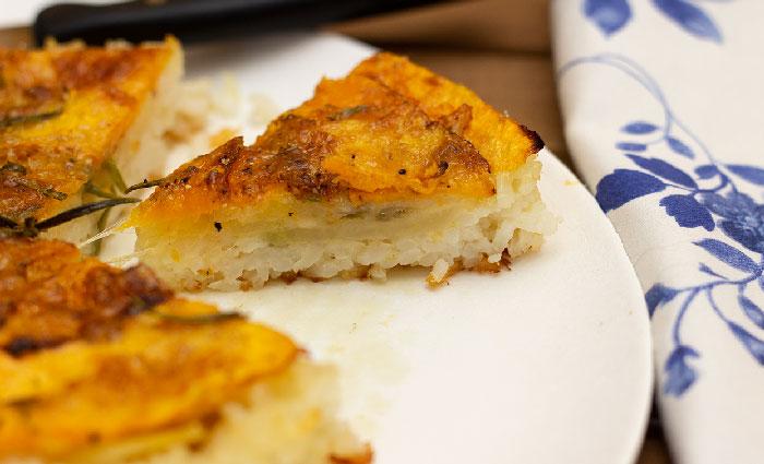 torta salata di zucca e patate